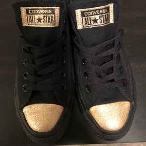Converse Shoes - Converse Limited Edition with Gold Toe Cap